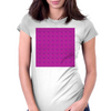 Electric Pink Cloud Womens Fitted T-Shirt