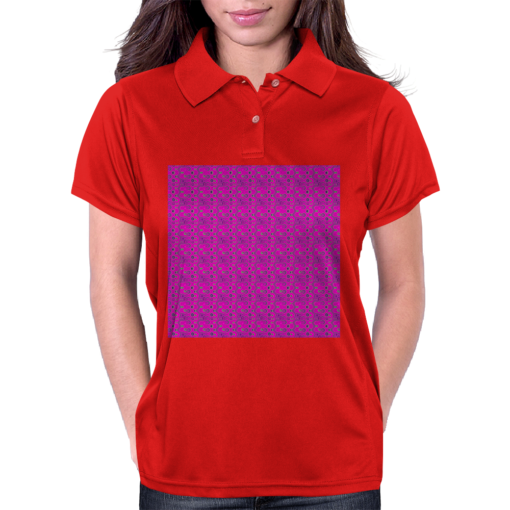 Electric Pink Cloud Womens Polo