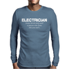 Electrician Mens Long Sleeve T-Shirt