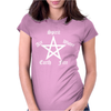Elements Pentagram Womens Funny  Pagan witchcraft ladies satan Womens Fitted T-Shirt
