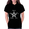 Elements Pentagram Womens Funny  Pagan witchcraft ladies satan Womens Polo