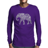 Elephant Filled Pattern Cool Mens Long Sleeve T-Shirt
