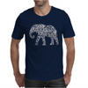 Elephant Filled Pattern Cool Mens T-Shirt