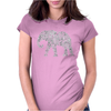 Elephant Filled Pattern Cool Womens Fitted T-Shirt