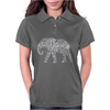 Elephant Filled Pattern Cool Womens Polo