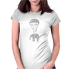Elephant in Parachute Womens Fitted T-Shirt