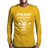 Elephant Merry Christmas Mens Long Sleeve T-Shirt