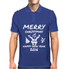 Elephant Merry Christmas Mens Polo
