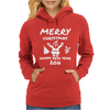 Elephant Merry Christmas Womens Hoodie