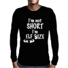 Elf Size T-Shirt Christmas Mens Long Sleeve T-Shirt