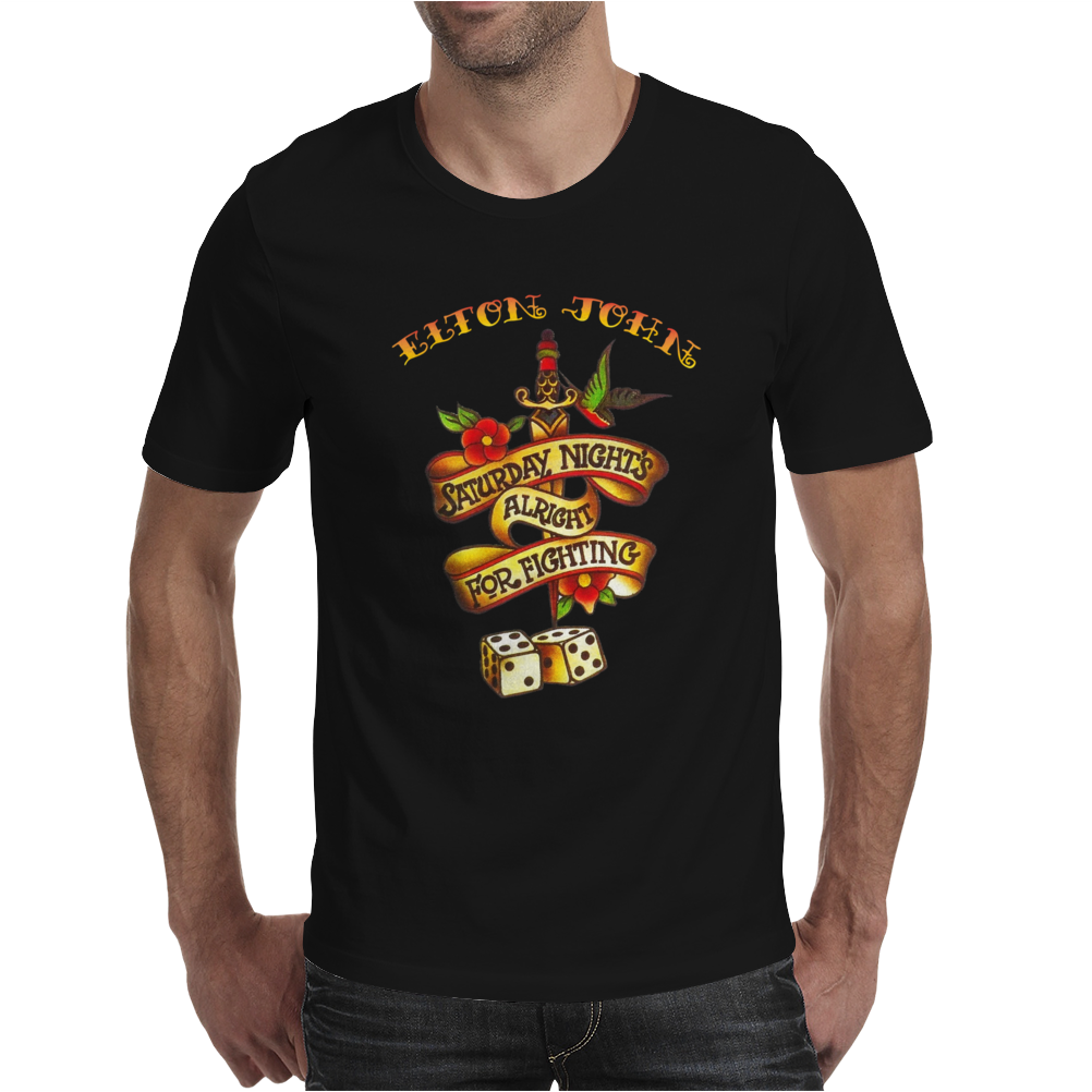 Elton John Saturday Night's Alright For Fighting Mens T-Shirt