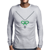 Emerald Bow and Diamonds Necklace Mens Long Sleeve T-Shirt
