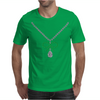 Emerald Bow and Diamonds Necklace Mens T-Shirt
