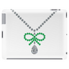 Emerald Bow and Diamonds Necklace Tablet