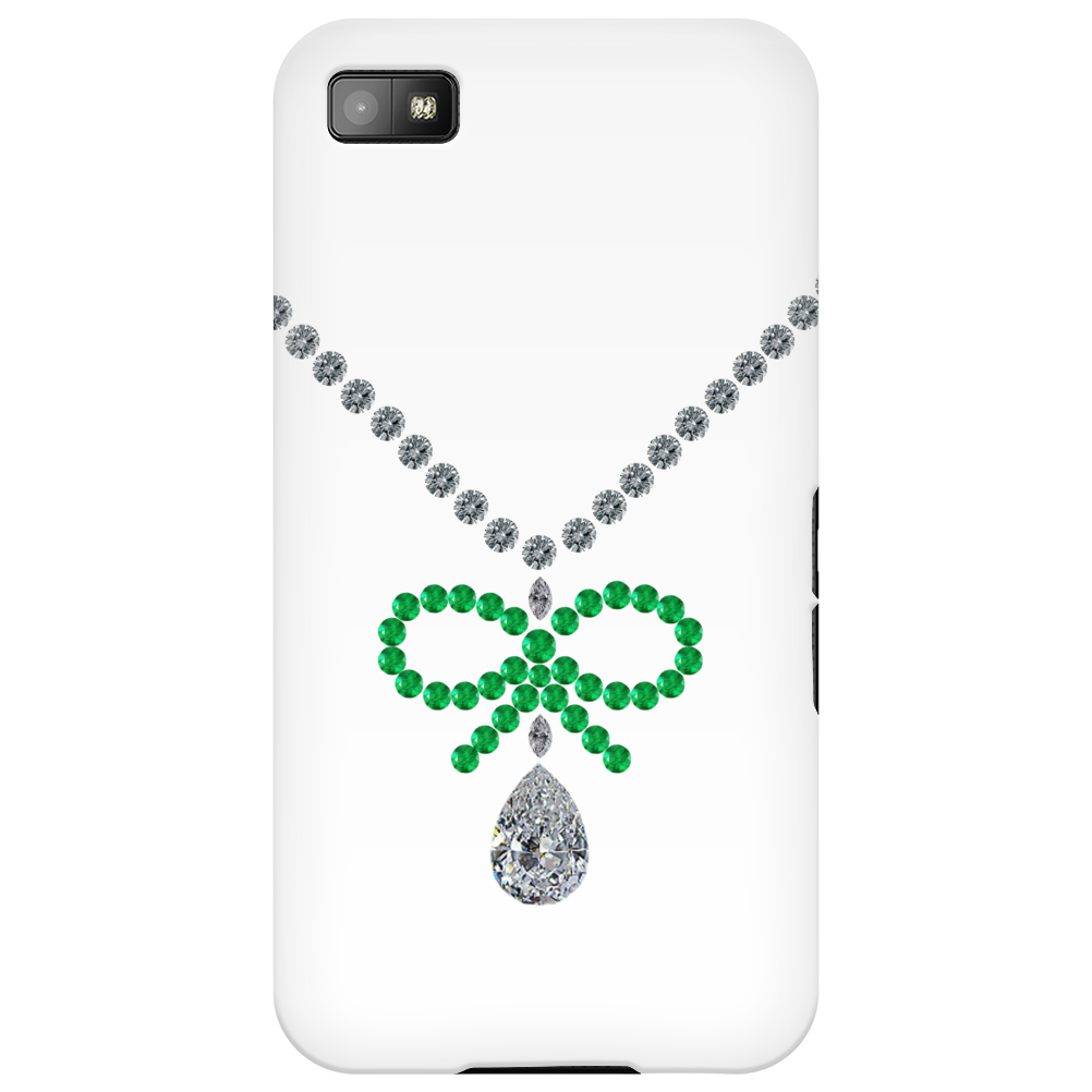 Emerald Bow Necklace Phone Case