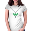 Emerald Bow Necklace Womens Fitted T-Shirt