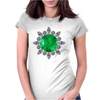 Emerald Brooch Womens Fitted T-Shirt