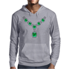 Emerald Diamond Necklace Mens Hoodie