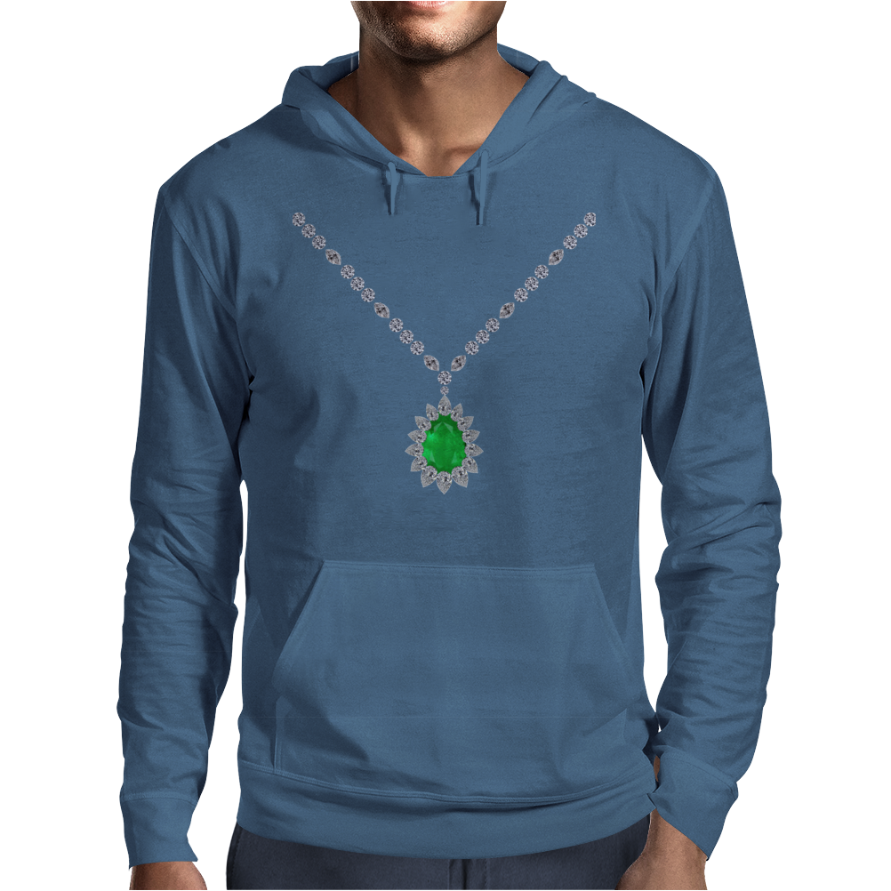 Emerald Pendant Necklace Mens Hoodie