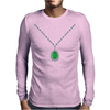 Emerald Pendant Necklace Mens Long Sleeve T-Shirt
