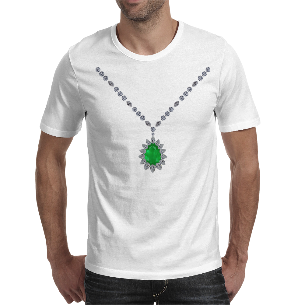 Emerald Pendant Necklace Mens T-Shirt