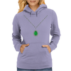 Emerald Pendant Necklace Womens Hoodie