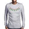 Emeralds and Orange Flowers Mens Long Sleeve T-Shirt
