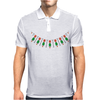 Emeralds and Orange Flowers Mens Polo