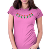 Emeralds and Orange Flowers Womens Fitted T-Shirt
