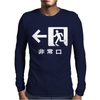 Emergency Exit Japanese Mens Long Sleeve T-Shirt