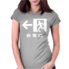 Emergency Exit Japanese Womens Fitted T-Shirt