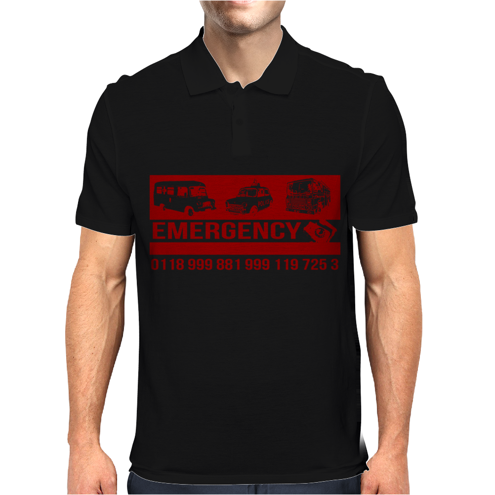 Emergency Number Mens Polo