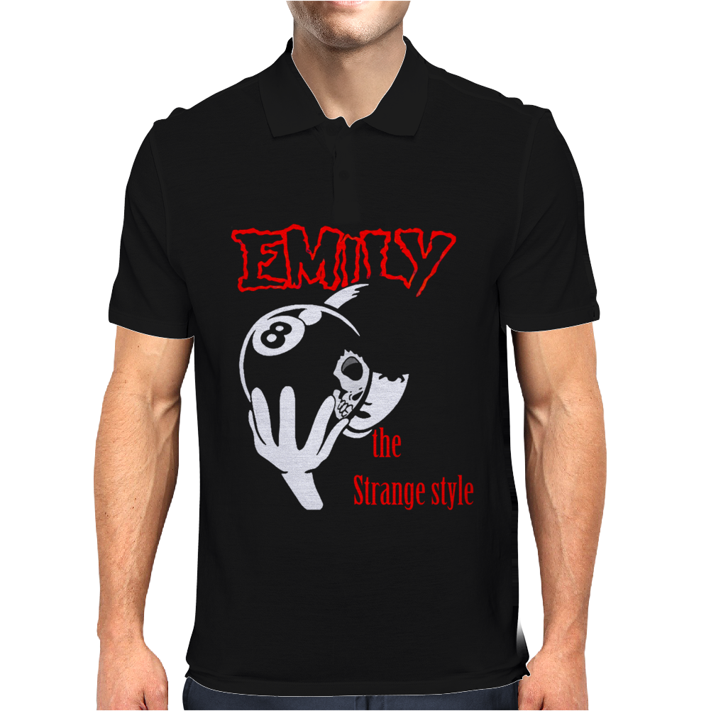 Emily the Strange style Mens Polo