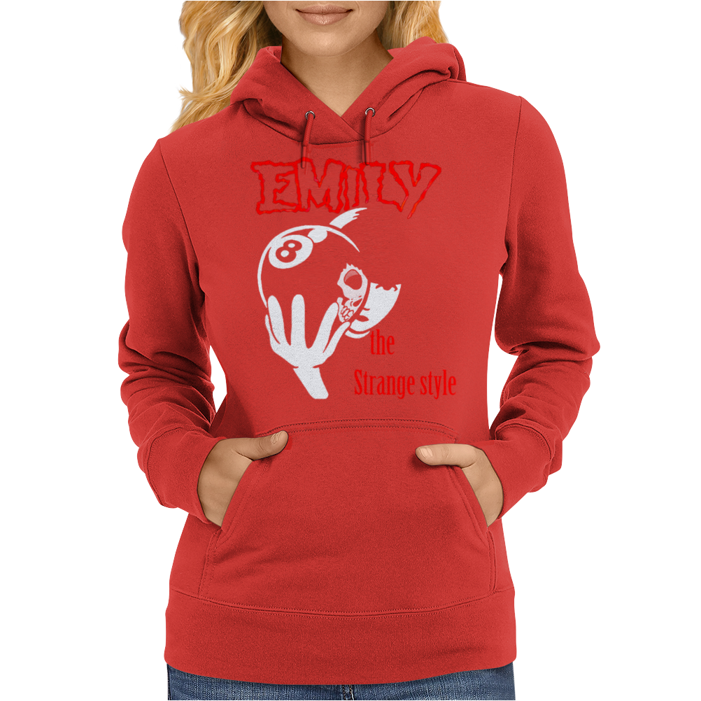 Emily the Strange style Womens Hoodie