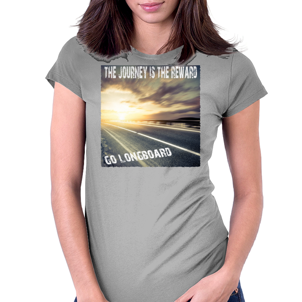 Endless Roads Go Longboard  Womens Fitted T-Shirt