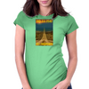 Endless Roads Go skate on Longboard Womens Fitted T-Shirt