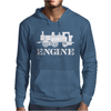 Engine Driver Steam Train Mens Hoodie