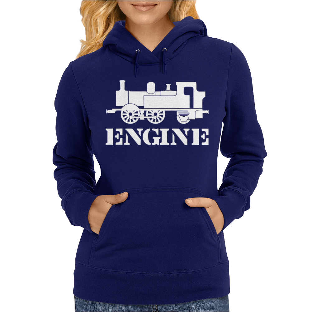 Engine Driver Steam Train Womens Hoodie