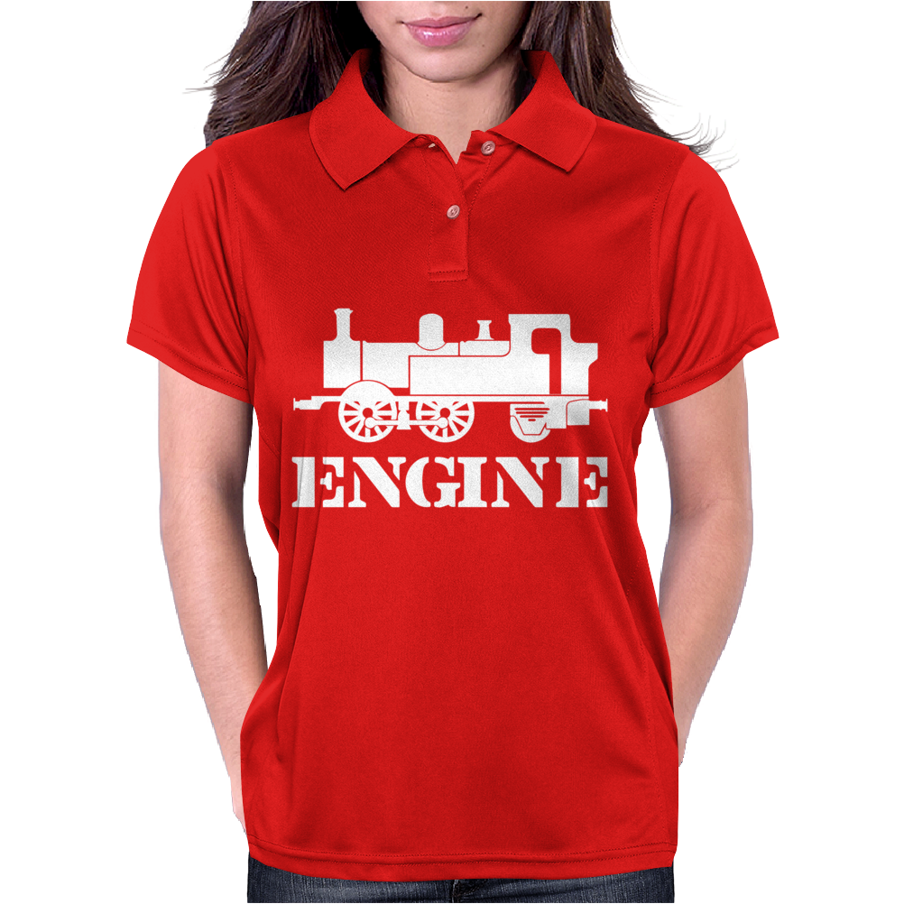 Engine Driver Steam Train Womens Polo