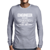 Engineer Beganse Superhero Mens Long Sleeve T-Shirt