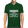 Engineer Beganse Superhero Mens Polo