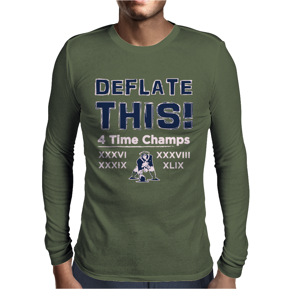 England Patriots Deflate This 2015 Champions Mens Long Sleeve T-Shirt
