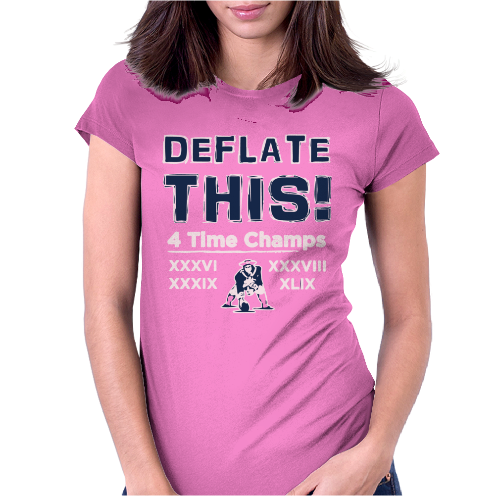England Patriots Deflate This 2015 Champions Womens Fitted T-Shirt