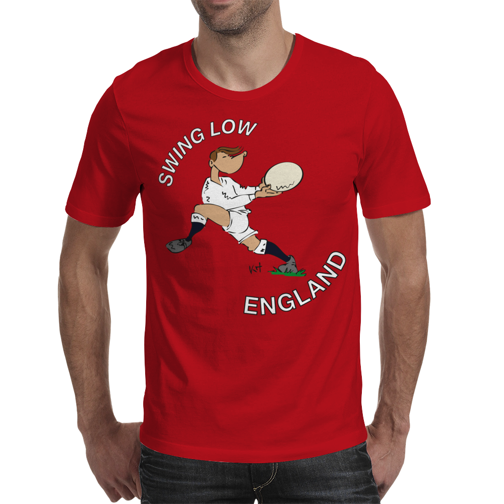 England Rugby Back World Cup Mens T-Shirt