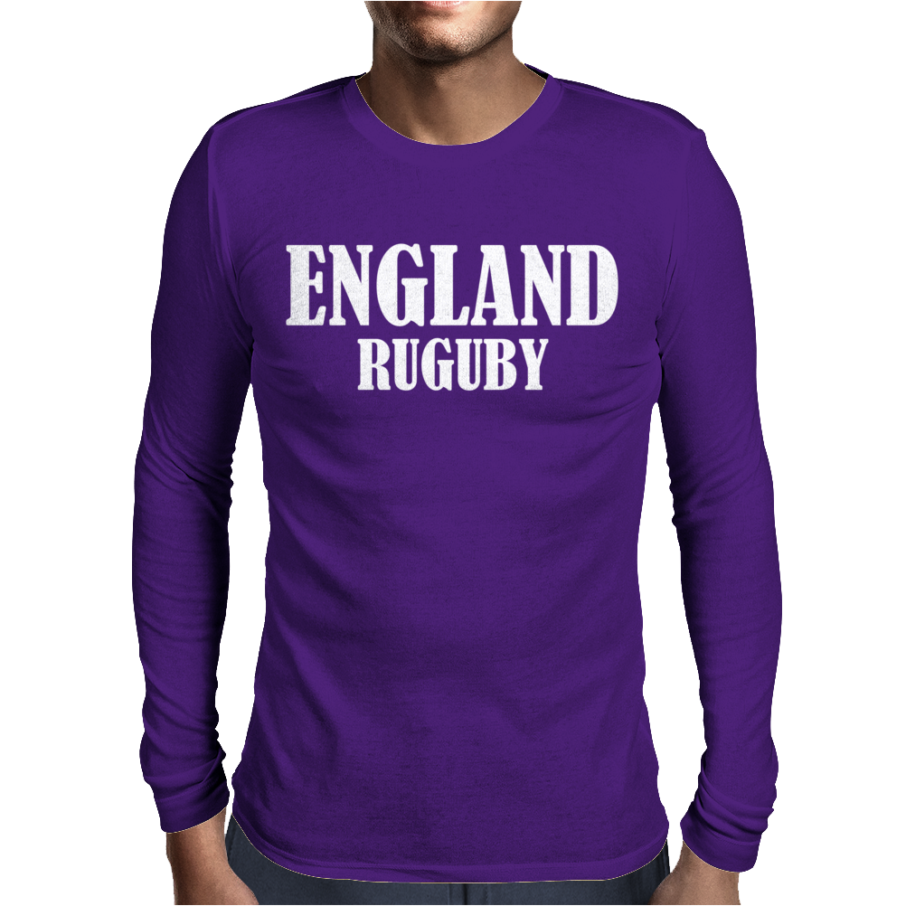 England Rugby Mens Long Sleeve T-Shirt
