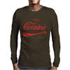ENJOY COCAINE FUNNY GRAY Mens Long Sleeve T-Shirt