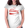 ENJOY COCAINE FUNNY GRAY Womens Fitted T-Shirt