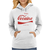 ENJOY COCAINE FUNNY GRAY Womens Hoodie