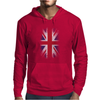 Eroded UK Flag Mens Hoodie