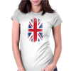 Eroded UK Flag Womens Fitted T-Shirt